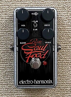 Electro-Harmonix EHX Bass Soul Food Overdrive/Clean Boost pedal - MINT
