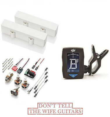 EMG J5 SET WHITE 5 STRING JAZZ BASS PICKUPS ( FREE GUITAR DUNLOP TUNER ) Fender • 152.28£
