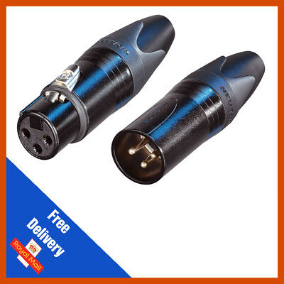 5 X Neutrik XLR NC3FXX-BAG Female Plug | 5x NC3MXX-BAG Connectors Male Plug • 22.99£