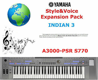 Yamaha PSR A3000/S770 INDIAN 3 Expansion Pack • 5£
