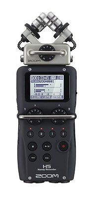 New! ZOOM H5 Portable Handheld Field Recorder Interchangeable Microphone System