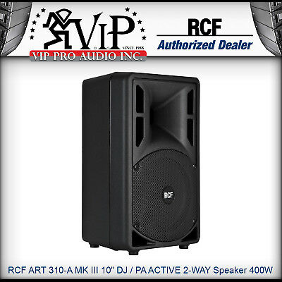 RCF ART 310-A MKiii 10  DJ / PA ACTIVE 2-WAY Powered Speaker 400W Amplified NEW • 383.17£