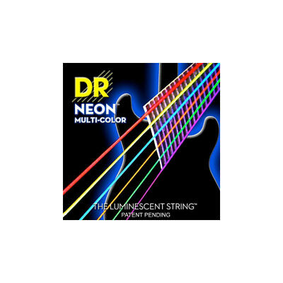 DR Hi-Def NEON Multi-Color Coated Electric Guitar Strings - MEDIUM, New! • 8.98£