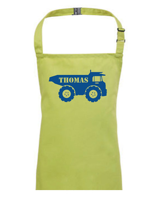 BIG TRUCK- Personalised Children's / Kids Apron   EMAIL THE NAME YOU WANT • 13.95£