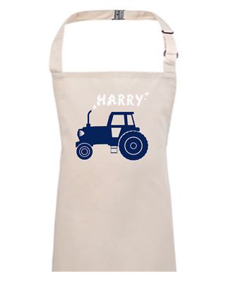 BIG FARM TRACTOR- Personalised Kids Apron   EMAIL THE NAME YOU WANT • 13.95£