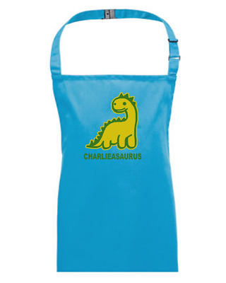YOUR NAME ASAURUS- Personalised Dinosaur- Kids Apron EMAIL THE NAME YOU WANT • 13.95£