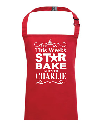 Traditional Style 'Star Bake' Personalised Kid's Apron- EMAIL THE NAME YOU WANT • 13.95£