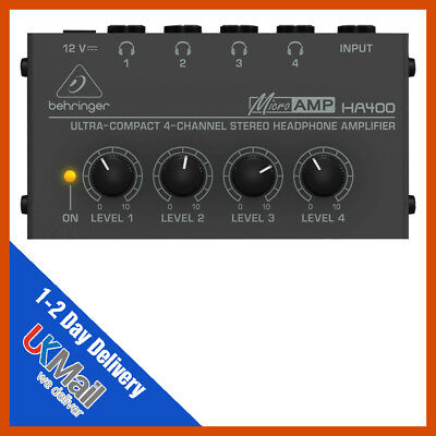 Behringer HA400 Micro Amp Headphone Amplifier • 29.99£