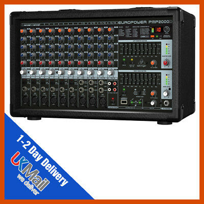 Behringer PMP2000D 2000-Watt 14-Channel Powered Mixer • 329£