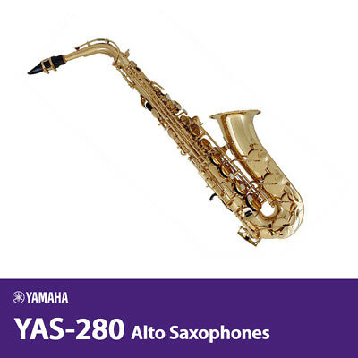 YAMAHA YAS-280 Alto Saxophones For Beginner/Student Gold Lacquer B-C# / Free UPS • 953.68£
