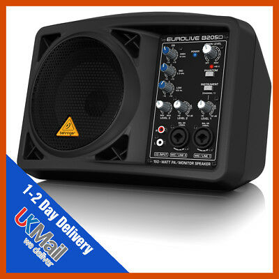 Behringer B205D Eurolive 150W Active Powered Portable Monitor PA Speaker System • 189.99£