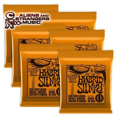 6 Sets! Ernie Ball Hybrid Slinky Electric Strings 2222 .009-.046 • 23.61£