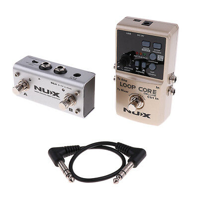 NUX Loop Core Deluxe Guitar Effect Pedal True Bypass 8 Hours Recording Time • 116.55£