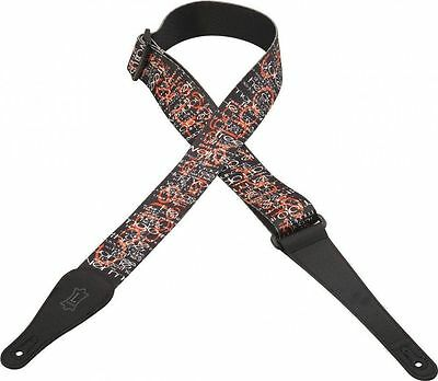 """Levy's MPL2-13 2"""" Poly Guitar Strap Beatles Come Together Song Lyrics"""
