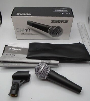 SHURE SM48S-LC PRO MICROPHONE, Case, Stand, Paperwork, NIB *44 • 54.01£