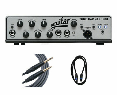 Aguilar Tone Hammer 500 500-Watt Bass Head + Speakon Cable + Mogami Cable • 606.28£