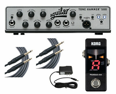 Aguilar Tone Hammer 500 + Pitchblack Mini Tuner + Cables + Power Supply • 679.93£
