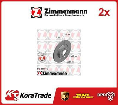 2x 230237120 ZIMMERMANN OE QUALITY BRAKE DISC SET • 91£