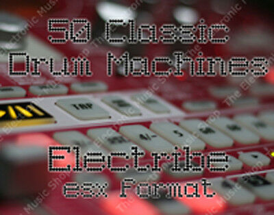 50 Classic Drum Machines for Korg Electribe ESX