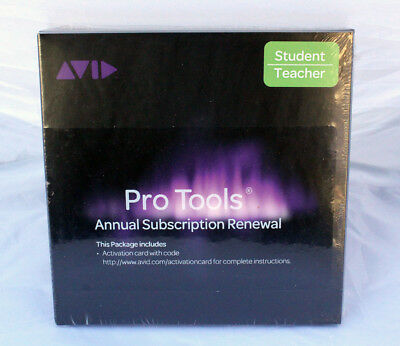 AVID Pro Tools Annual Subscription Renewal Activation Card+Code STUDENT TEACHER • 73.99£