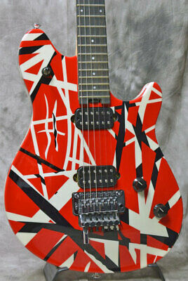 EVH Wolfgang Special Ebony Fingerboard Red Black And White Stripes Rare EMS F/S • 2,391.23£