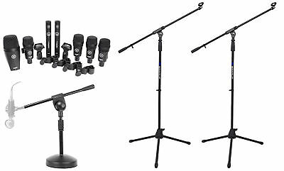 AKG Drum Set Session I 7) Microphones Bass/Overhead/Snare/Tom+Clamps+Case+Stands • 326.28£