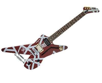 EVH Striped Series Shark Burgundy With Silver Stripes - Used • 841.74£