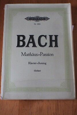Bach - Maththaus = Passion: Edition Peters songbook