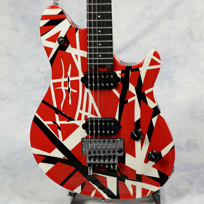 EVH Wolfgang Special Red With Black And White Stripes Rare EMS F/S • 1,927.27£