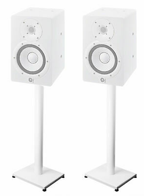 """Pair 37"""" Steel White Stands For Yamaha HS7i Studio Monitors • 55.19£"""