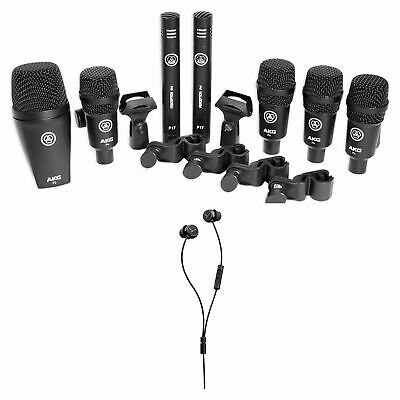 AKG Drum Set Session I (7) Microphone Drum Mic Kit + Beyerdynamic Earbuds • 320.94£