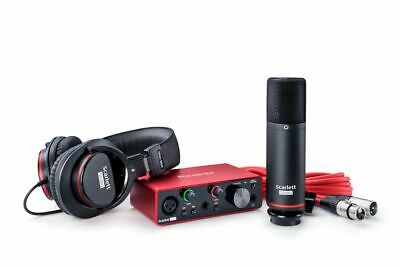 Focusrite SCARLETT SOLO STUDIO 3rd Gen 192KHz USB Audio Interface+Mic+Headphones • 163.75£