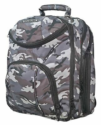Rockville Travel Case Camo Backpack Bag For Behringer PMP4000 Mixer • 45.96£