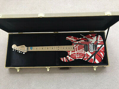 EVH Striped Series   Red  Electric Guitar- Cash On Collection With Tweed Case • 550£