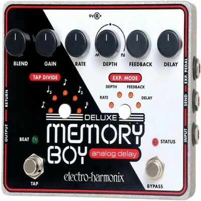Electro Harmonix Deluxe Memory Boy Delay Guitar Effects Pedal with Tap Tempo