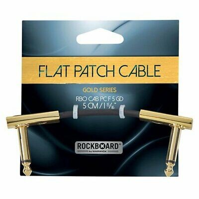 RockBoard Flat Patch Cable 5cm Ang-ang, Gold Series, RBO CAB PC F 5 GD • 7.10£