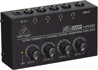 Behringer HA400 Microamp 4 Channel Stereo Headphone Amplifier • 20.58£