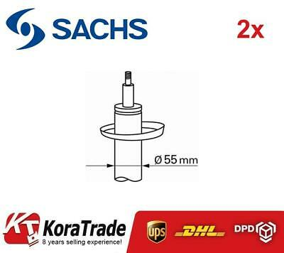 2x SACHS 313 053 FRONT SHOCK ABSORBERS PAIR SHOCKER OE QUALITY • 100£