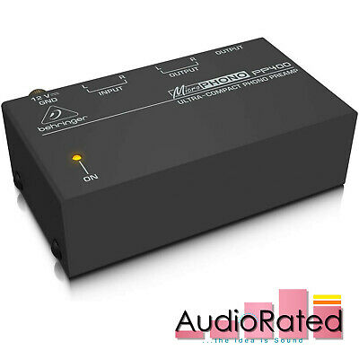 Behringer PP400 Phono Preamp Ultra Compact Microphono For Vinyl Record Player • 28.05£