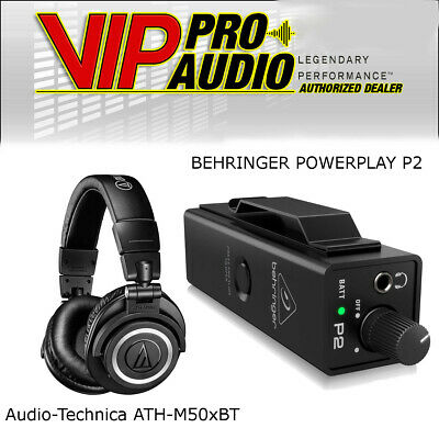 NEW Behringer Powerplay P2 + Audio-Technica ATH-M50xBT Wireless Bluetooth  • 182.59£