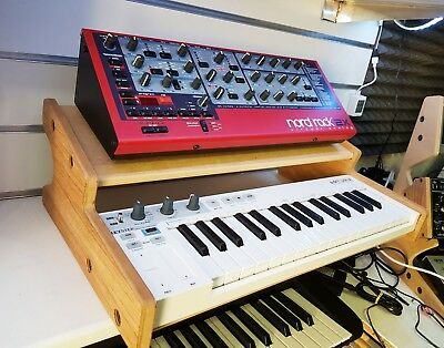 Oak Veneered Arturia Keystep Stand With Additional Shelf From Synths And Wood • 55£