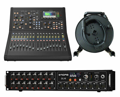 Midas M32R Live Digital Mixer + DL16 Stage Box + 150' Cat5 Network Cable Spool • 3,737.35£
