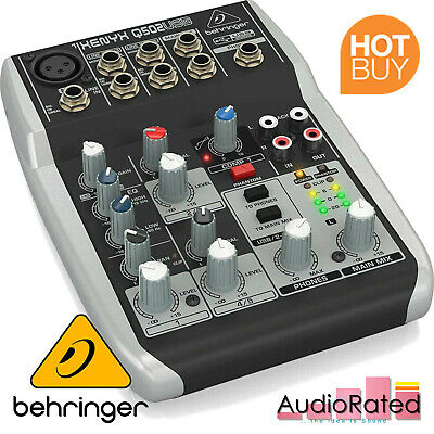 Podcasting Mixer 5 Input 2 Bus XENYX Mic Preamp Compressor Live Home Keyboard • 63.99£