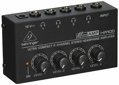 Behringer HA400 Microamp 4 Channel Stereo Headphone Amplifier • 29.99£