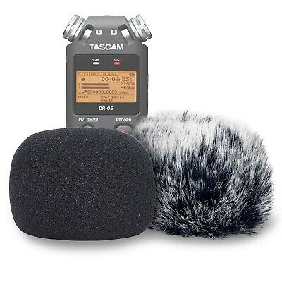 DR05 Windscreen Muff And Foam For Tascam DR-05 DR-05X Mic Recorders, DR05X In... • 28.99£