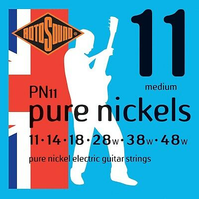 Rotosound Pure Nickel Medium Gauge Electric Guitar Strings (11 14 18 28 38 48) • 22.99£