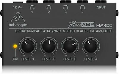 Behringer HA400 Microamp 4 Channel Stereo Headphone Amplifier • 24.99£