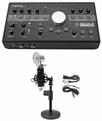 Mackie Big Knob Studio + Plus Monitor Controller Interface+Microphone+Mic Stand • 314.81£