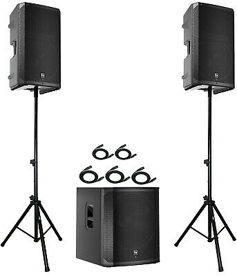 2x EV ELX200-15P 15  Speakers + 1x ELX200-18SP 18  Subwoofer + Stands & Cables • 1,749.80£