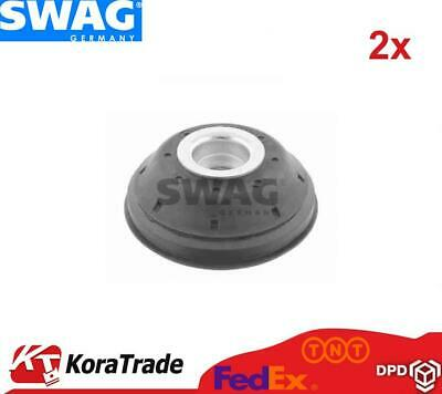 2x SWAG 40928405 FRONT SHOCK ABSORBER TOP MOUNT CUSHION SET • 56£